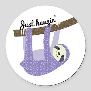 Just Hangin Round Car Magnet