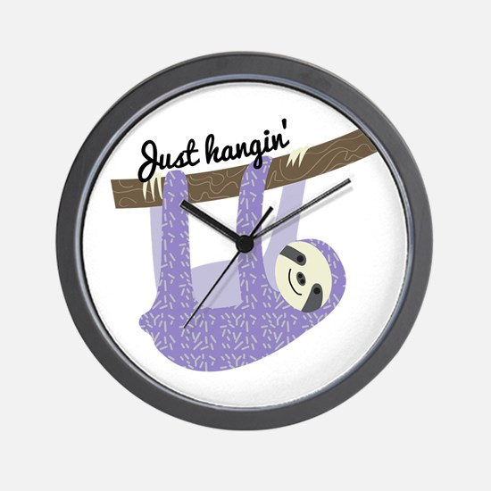 Just Hangin Wall Clock