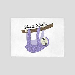 Slow & Steady 5'x7'Area Rug