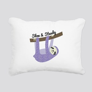 Slow & Steady Rectangular Canvas Pillow