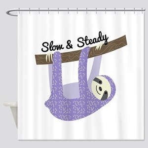 Slow & Steady Shower Curtain