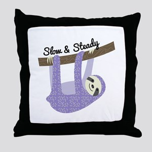 Slow & Steady Throw Pillow