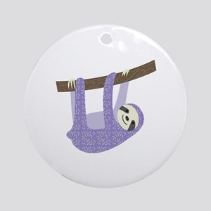 Tree Sloth Ornament (Round)