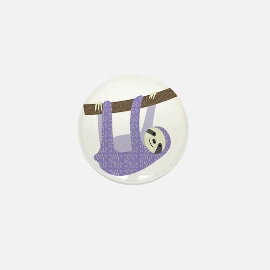 Tree Sloth Mini Button (10 pack)