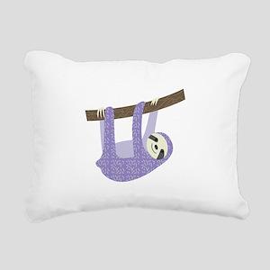Tree Sloth Rectangular Canvas Pillow