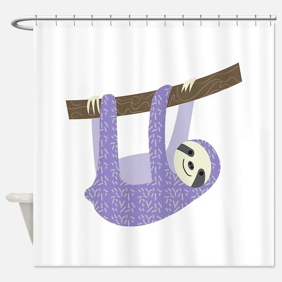 Tree Sloth Shower Curtain
