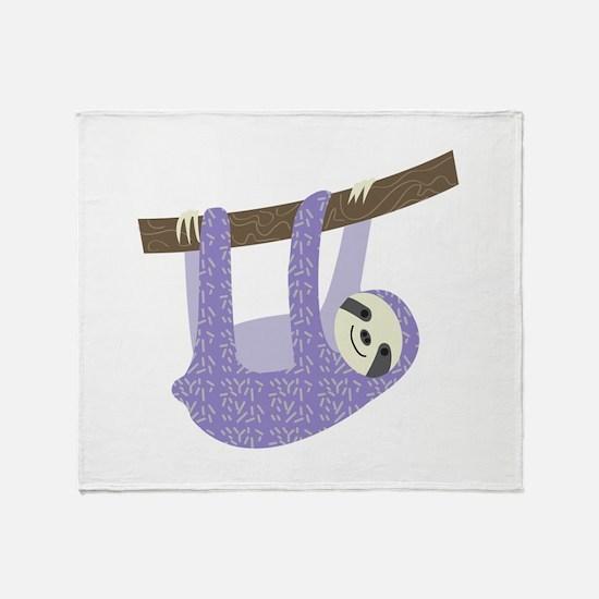 Tree Sloth Throw Blanket
