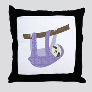 Tree Sloth Throw Pillow