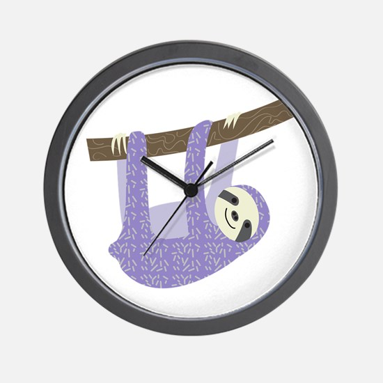 Tree Sloth Wall Clock