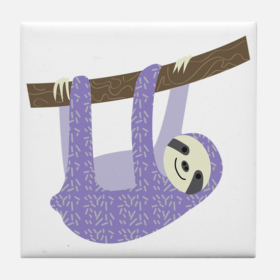 Tree Sloth Tile Coaster