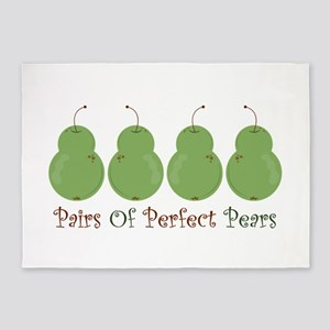 Pairs of Perfect Pears 5'x7'Area Rug