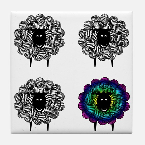 Unique Sheep Tile Coaster