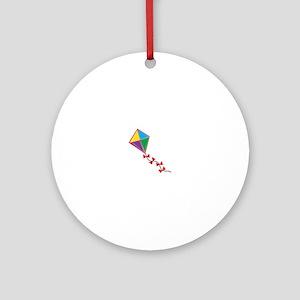 Colorful Kite Ornament (Round)
