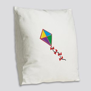Colorful Kite Burlap Throw Pillow