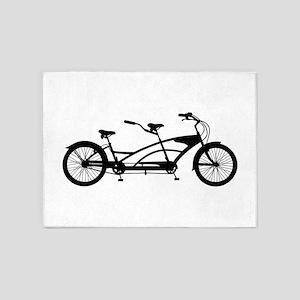 Tandem Bike 5'x7'Area Rug