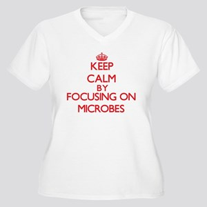 Keep Calm by focusing on Microbe Plus Size T-Shirt