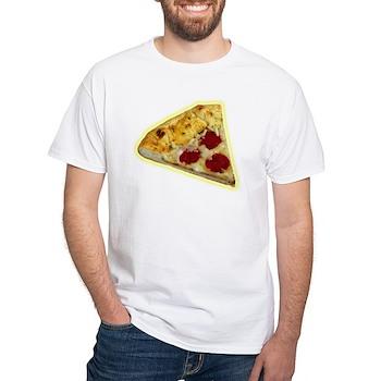 Pizza: White T-Shirt