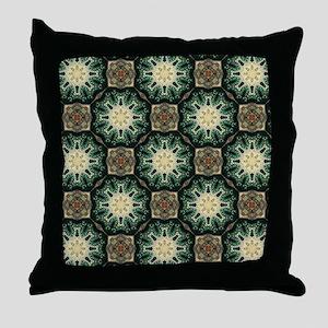 rustic bohemian damask pattern  Throw Pillow