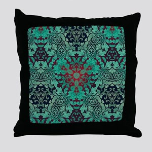 rustic bohemian damask pattern  Throw Pillow