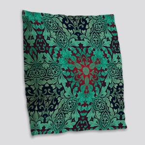 rustic bohemian damask pattern Burlap Throw Pillow