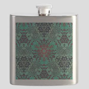 rustic bohemian damask pattern  Flask