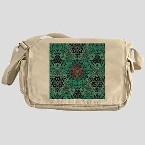 rustic bohemian damask pattern  Messenger Bag