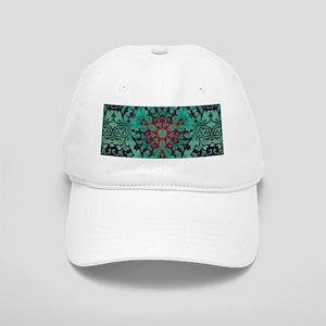 rustic bohemian damask pattern Cap