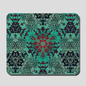 rustic bohemian damask pattern Mousepad