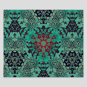 rustic bohemian damask pattern King Duvet