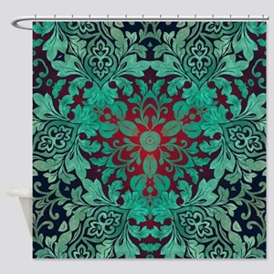 rustic bohemian damask pattern Shower Curtain