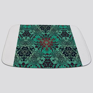 rustic bohemian damask pattern Bathmat