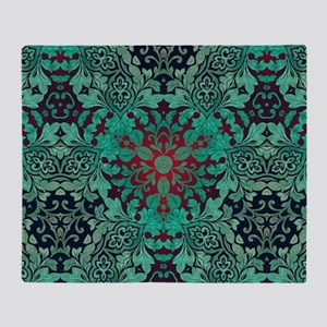 rustic bohemian damask pattern Throw Blanket
