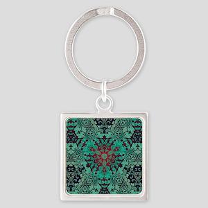 rustic bohemian damask pattern Keychains