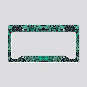 rustic bohemian damask patter License Plate Holder