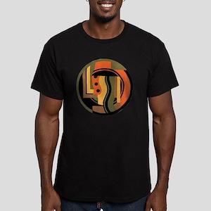 Vintage Art Deco Men's Fitted T-Shirt (dark)