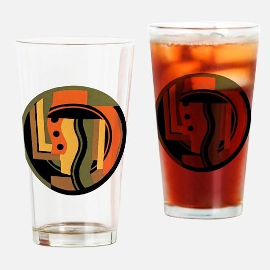Vintage Art Deco Drinking Glass