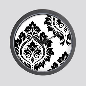 Decor Damask Art I BW Wall Clock