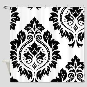 Decor Damask Art I BW Shower Curtain