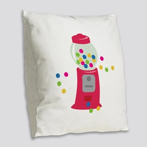 Bubble Gum Machine Burlap Throw Pillow