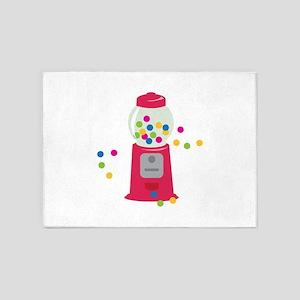Bubble Gum Machine 5'x7'Area Rug