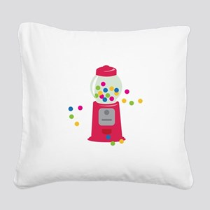 Bubble Gum Machine Square Canvas Pillow