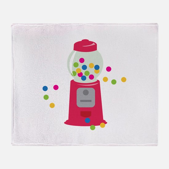 Bubble Gum Machine Throw Blanket