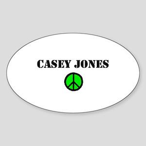 Casey Jones Oval Sticker