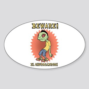 Chupacabron Oval Sticker