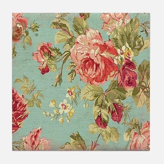 Unique Roses Tile Coaster