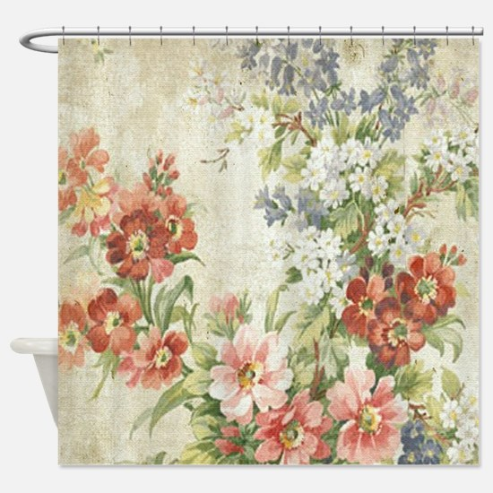 Unique Vintage floral Shower Curtain