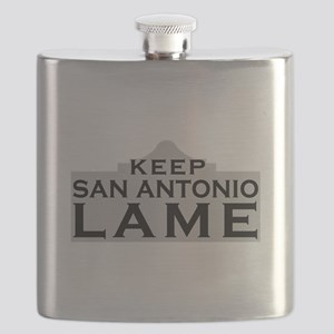 Keep San Antonio Lame Flask