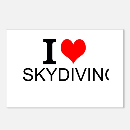 I Love Skydiving Postcards (Package of 8)