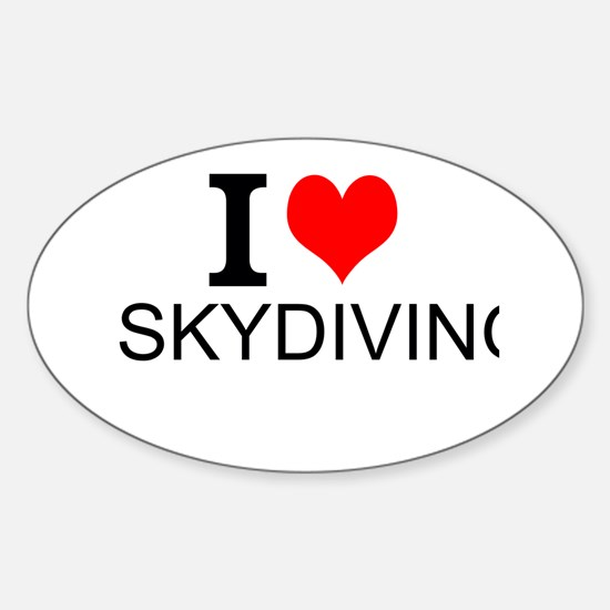I Love Skydiving Decal