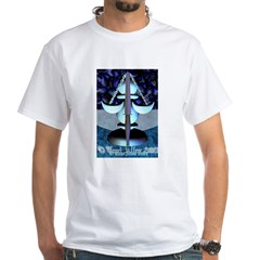Tarot Justice White T-Shirt